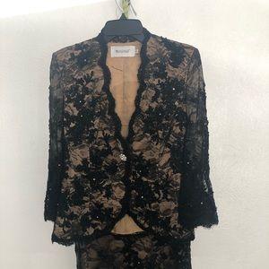 Elegant lace black suit